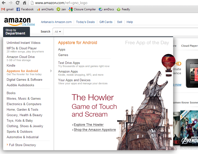 The Howler is free app of a day in Amazon.com today!